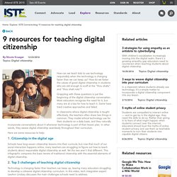 9 resources for teaching digital citizenship