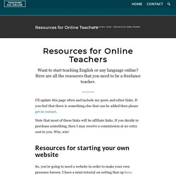 Resources for Teaching English Online