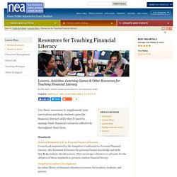 Resources for Teaching Financial Literacy