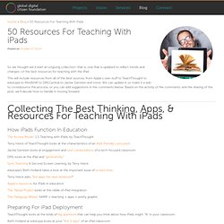 50 Resources For Teaching With iPads