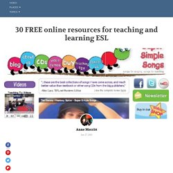 30 FREE online resources for teaching and learning ESL