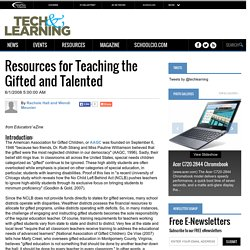 Resources for Teaching the Gifted and Talented