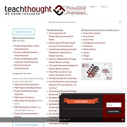 PBL Workshop Tools and Resources - TeachThought PD