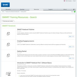 SMART Training Resources - Search