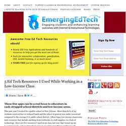5 Ed Tech Resources I Used While Working in a Low-Income Class — Emerging Education Technologies