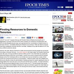 Pivoting Resources to Domestic Terrorism, Mark Pomerleau - The Epoch Times
