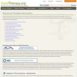 Resources for Therapists