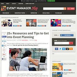 25+ Resources and Tips to Get into Event Planning