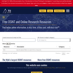 Free Internet Research ResourcesToddington International Inc.