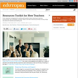 Resources Toolkit for New Teachers