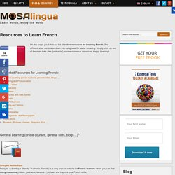 The best resources and tools to Learn French