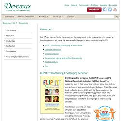 Devereux FLIP IT® Resources to transform challening behavior in children