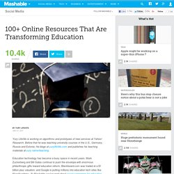 100+ Online Resources That Are Transforming Education
