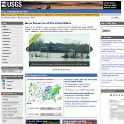 Water Resources Of The U.S. - Geological Survey