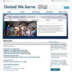 White House Council for Community Solutions