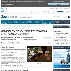 Managing my money: More free resources from The Open University