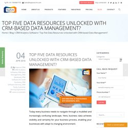 Top Five Data Resources Unlocked with CRM-based Data Management?