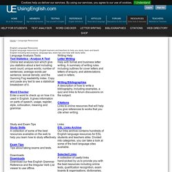 English Language and ESL Resources