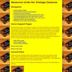 Resources for Vintage Cameras