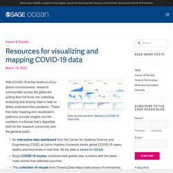 Resources for visualizing and mapping COVID-19 data — SAGE Ocean