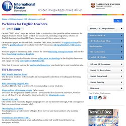 TEFL sites - online resources for English teachers