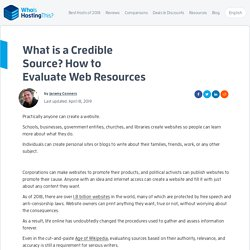 (M. Fuchs/91) What is a Credible Source?