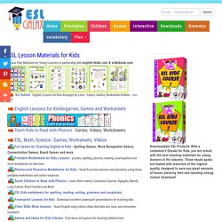 ESL Resources for kids, Young Learner TEFL Lesson plans