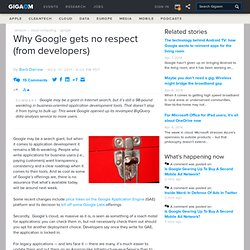 Why Google gets no respect (from developers) — Cloud Computing News