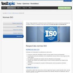 Respect des Normes ISO - Tests Utilisateurs