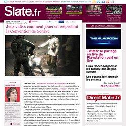 Jeux vidéo: comment jouer en respectant la Convention de Genève