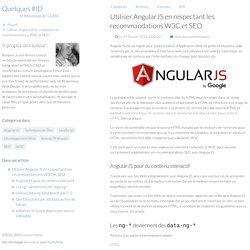 Utiliser AngularJS en respectant les recommandations W3C et SEO