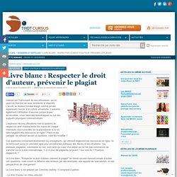 Livre blanc : Respecter le droit d'auteur, prévenir le plagiat