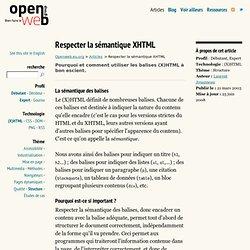 Respecter la sémantique XHTML