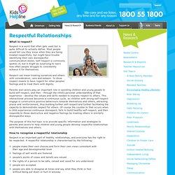 Kids Helpline - Respectful Relationships
