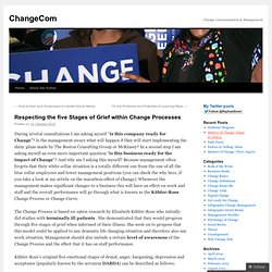 Respecting the five Stages of Grief within Change Processes | ChangeCom
