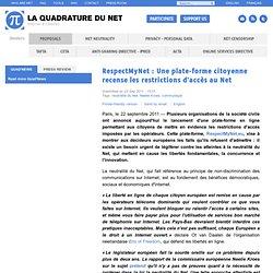 RespectMyNet : Une plate-forme citoyenne recense les restrictions d'accès au Net