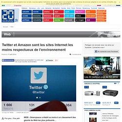Twitter et Amazon sont les sites Internet les moins respectueux de l'environnement