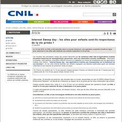 Internet Sweep day : les sites pour enfants sont-ils respectueux de la vie privée ? - CNIL - Commission nationale de l'informatique et des libertés