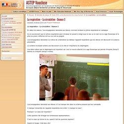 La respiration – La circulation - Séance 3 - Accompagnement de Sciences et Technologie à l'Ecole Primaire - Vaucluse (ASTEP)