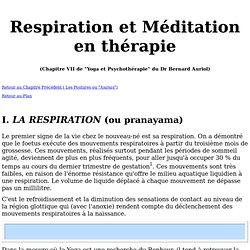 Respiration et Méditation en thérapi