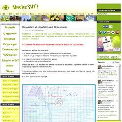 Respiration et répartition des êtres-vivants - Cours de SVT 5ème