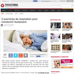3 exercices de respiration pour s'endormir facilement