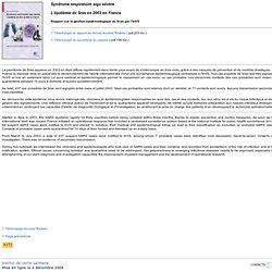 INVS 02/12/04 Syndrome respiratoire aigu sévère. L'épidémie de Sras en 2003 en France. Rapport sur la gestion épidémiologique du