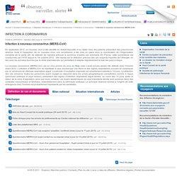 Infection à nouveau coronavirus (MERS-CoV) / Infection à coronavirus / Infections respiratoires