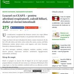 Leacuri cu CEAPĂ - pentru afecţiuni respiratorii, calculi biliari, diabet şi viermi intestinali - Top Remedii Naturiste