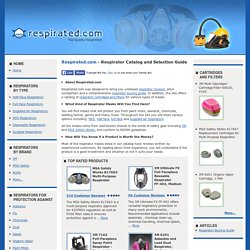 Respirators - Buying Guide, Information, Reviews and Prices