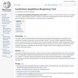 Lambertsen Amphibious Respiratory Unit