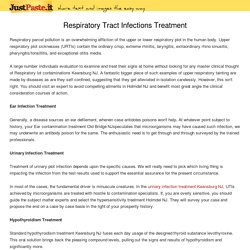 Respiratory Tract Infections Treatment