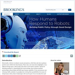 How Humans Respond to Robots