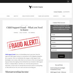 Child Support Fraud – What you Need to Know